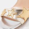 Zilveren trouwschoenen met gouden sterren Liu Jo