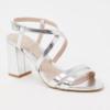 Zilveren trouwschoenen sandalen Carvela